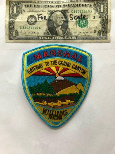 Williams Arizona Police Marshal Patch un-sewn mint condition