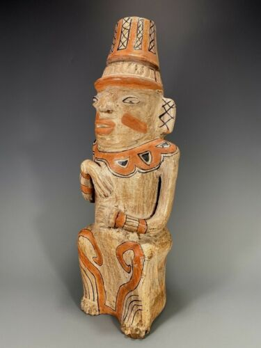 Costa Rica Guanacaste Nicoya Nicoyana Pottery Polychrome Figure ca. 19-20th c.