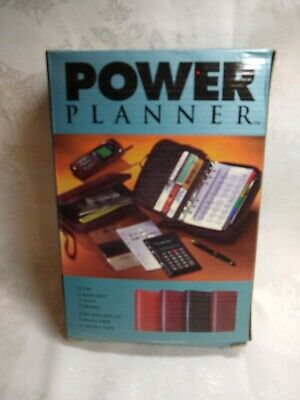 Power Planner Business Organizer Zip Around Wallet Projects Expenses Goals New