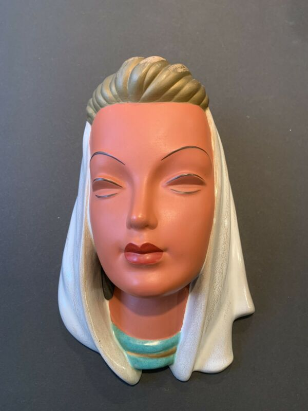 Vintage Goldscheider 529 Wall Mask Art Deco Terracotta W Germany