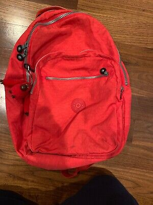 Kipling  Red Nylon Backpack with Laptop Carrier Protection +Lunch Bag