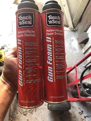 2 Pcs Touch N Seal Gun Foam Ii Fireblocking Polyurethane Foam Sealant 24oz Can