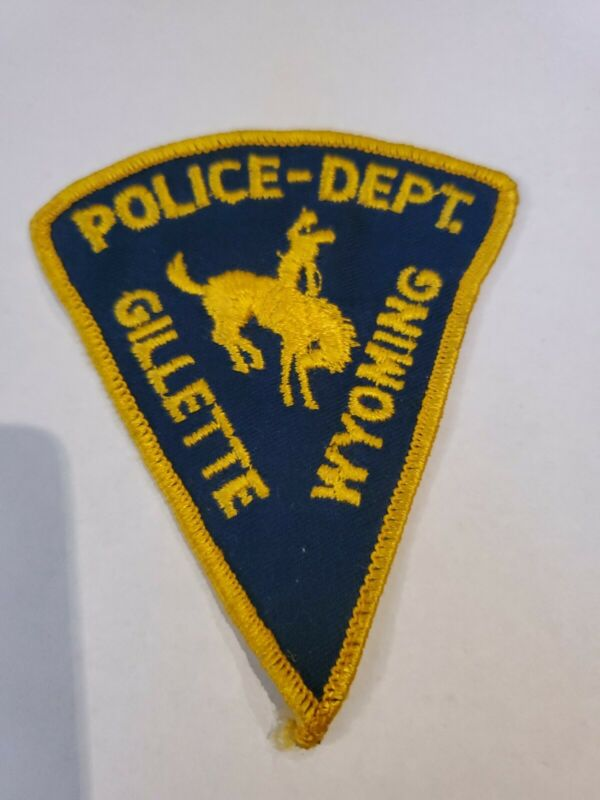 Vintage Gillette Wyoming Police Department Shoulder Patch Rodeo Bronco