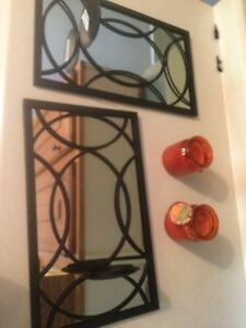 Mirror wall hangings $10 OBO for both. Brand new.