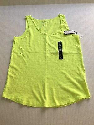 NWT GAP (Size Medium ) Women Sleeveless Top Chartreuse Yellow