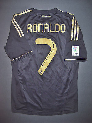 11 12 Adidas Real Madrid Cristiano Ronaldo Jersey Shirt Manchester United Black