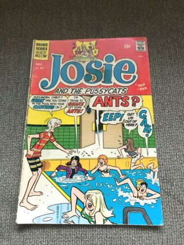 ARCHIE SERIES: JOSIE AND THE PUSSYCATS NO. 45 - Dec. 1969 - 1st Appearance