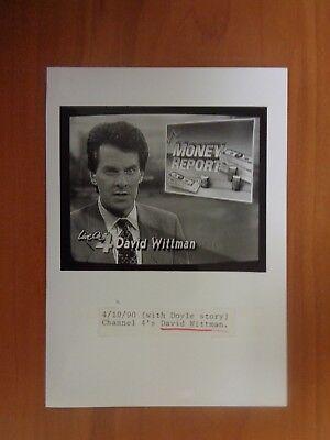 Vintage Glossy Press Photo Wbz Tv Channel 4 News Anchor David Wittman