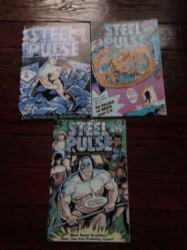 Steel Pulse #1 #2 #3 WWF Pro Westling rare comic book series 1986 - 1987