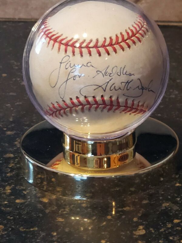 Garth Brooks Autographed Baseball With Display Case