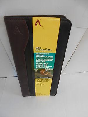 Business Card Holder. Holds Up To 96 Cards Soft Padded Vinyl Blackburgundy 446
