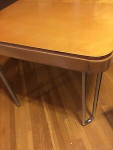 Vintage Wood Dining /Kitchen Table with Hairpin Legs