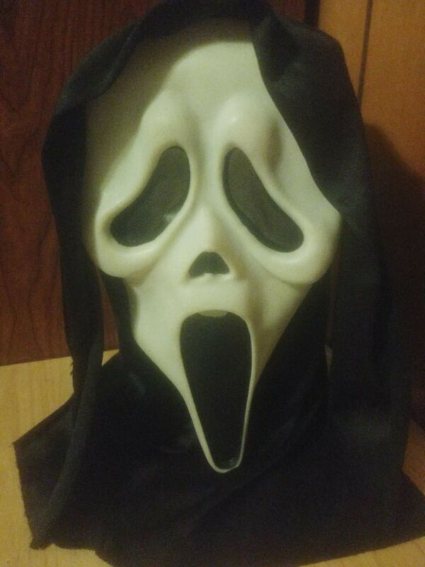 Scream Ghostface Mask Easter Unlimited Fun World Ghost Face Glow T Stamped