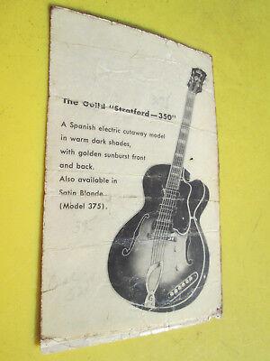 MEGARARE Vintage '53 GUILD X-350 STRATFORD 3 Pickup Archtop Guitar HANG TAG !@@!