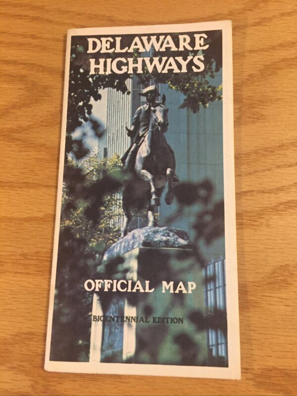 Vintage 1976 Delaware Highways Highway Road Map Official Bicentennial Edition