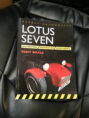 Lotus Seven 7 Restoration Preparation Maintenance Tony Weale Rare Book Workshop