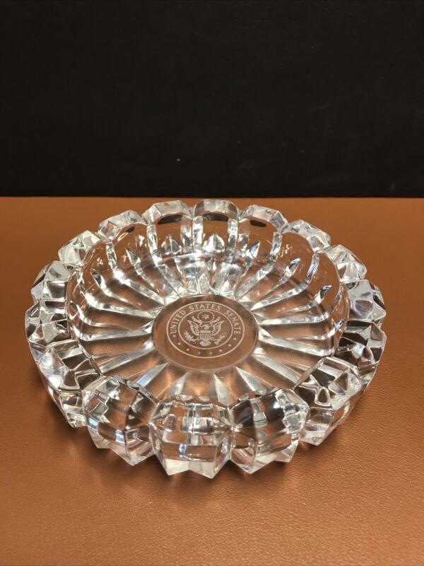 Vintage United States Senate Fostoria Cut Glass Ashtray