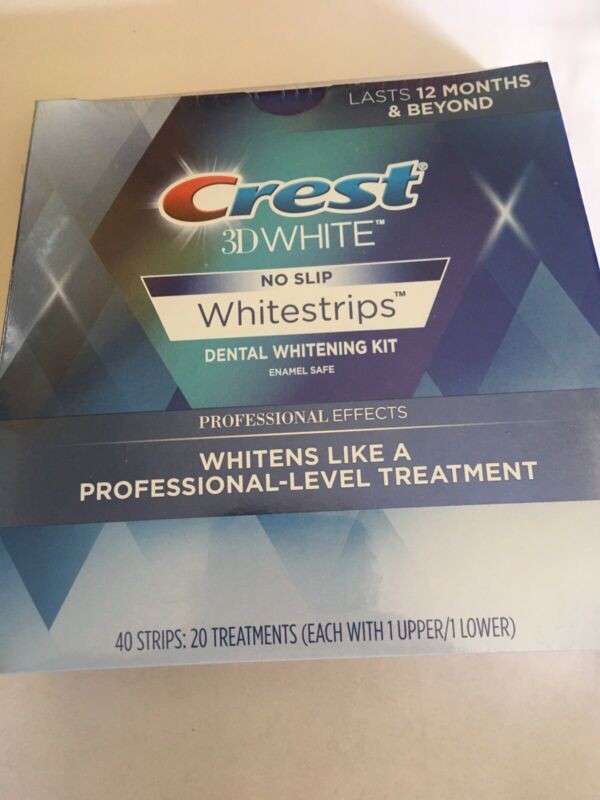 Crest 3D Whitestrips Professional White - 40 Strips SE 2019