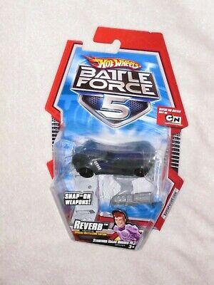 Hot Wheels Battle Force 5 Reverb Dark Gray with purple stripe