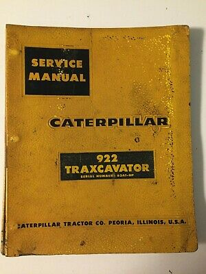 Caterpillar Cat 922 63a Gas Front-end Wheel Loader Oe Service Shop Repair Manual