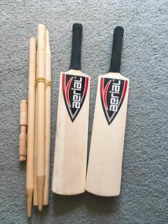 Aerial rounders cricket bat & stumps