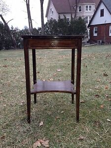 Vintage/Antique Mahogany? Top Side/End Table/Stand w Drawer