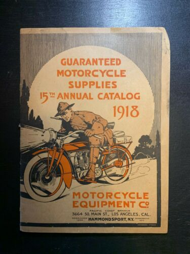 Vintage Print 1918 Meco Motorcycle Accessories Catalog