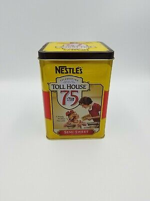 Vintage NESTLE TOLL HOUSE Collectible TIN 75 Years Ruth Wakefield Commemorative