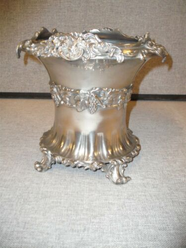 19th Century Meridian Quadruple Silver Plate Champaign- Wine Bottle Chiller