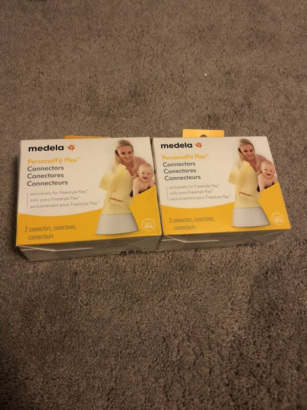 Medela PersonalFit Flex Connectors Box contains 2 Connectors New Sealed Lot Of 2