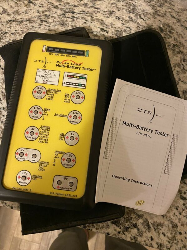 ZTS Inc. MBT-1 Multi-battery Tester, More Than 30 Types #MBT1