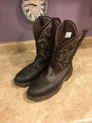 Mens Double H Western Boots Size 12 D Model DH4203 Briar Oiltan Leather