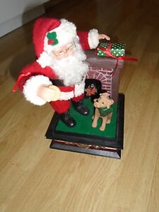 For sale  Musical Santa with Dog and Cookie