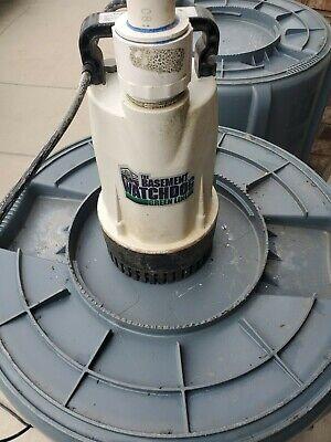 Basement Watchdog Bw1050 - 12 Hp Cast Iron Submersible Sump Pump W Vertical...