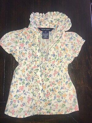 Ralph Lauren 9 Months Baby Girl Floral Shirt Easter Outfit $35