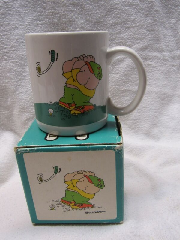 ZIGGY DUFFER COFFEE MUG GOLFING GOLFER IN BOX 1989