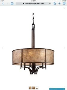 NEW PENDANT CHANDELIER   6  LIGHT