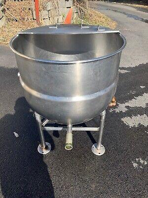 Bh Hubbert 40 Gallon Stainless Steel Direct Steam Kettle Pedestal Base