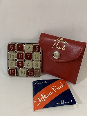 Vintage 15 Puzzle with Case & Instructions