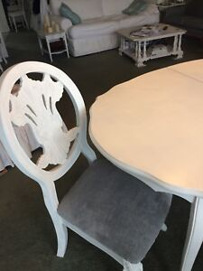 White  dining set 5 pieces