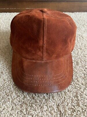 Vintage LL Bean Leather Hat Made In The USA Genuine Leather
