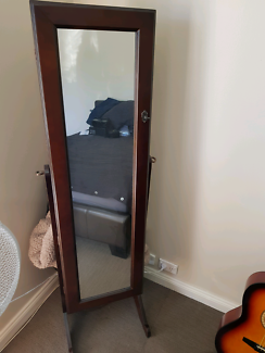 Full length mirror and jewellery cabinet