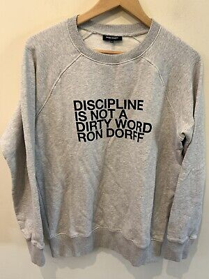 Ron Dorff Discipline Is Not A Dirty Word Sweatshirt Sz. Large Tapered Fit