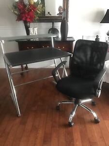 Desk and chair - great combo (black)