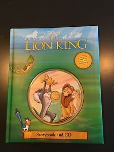 The Lion King hard cover book with CD