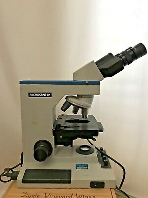 Reichert Microstar Iv 410 Laboratory Microscope With Dual Head