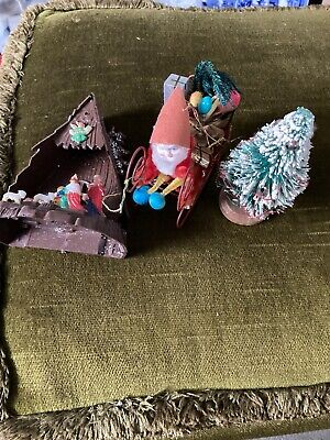 3 Vintage Christmas Orniments 1960s