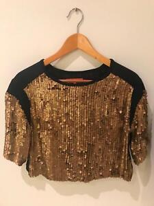 Manning Cartell Top with Gold sequin embellishments New Farm Brisbane North East Preview