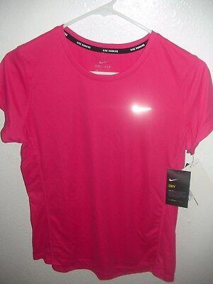 Nike sz XS Dri-FIT Sprint Crew Women/'s Running Shirt Top NEW $90 588554 514 PINK