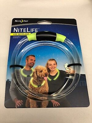 Nite Ize NiteLife LED Necklace GREEN Glows & Flash NEW](Cheap Glow Necklaces)